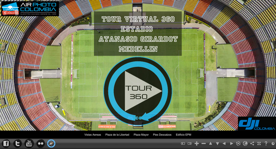 Get Adobe Flash player to visualize the Virtual Tour : Medellin -Air Photo Colombia)